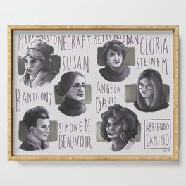 Portraits of feminism Serving Tray