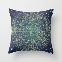 Stars Constellations Map Throw Pillow
