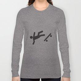 Stickman Skateboard Fall Long Sleeve T-shirt