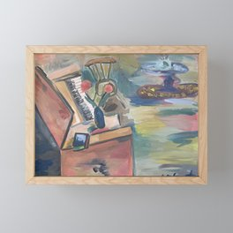 Piano Room Framed Mini Art Print