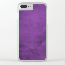 LowPoly Purple Clear iPhone Case