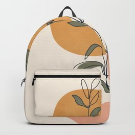 Minimal Line Young Leaves Backpack