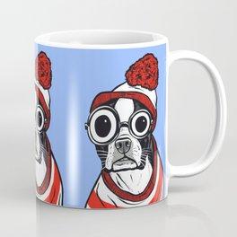 Boston Terrier Striped Shirt Coffee Mug
