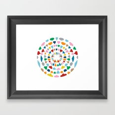 Wine o'Clock on White Framed Art Print