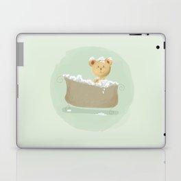 Teddy Bear in Bathtub  Laptop & iPad Skin