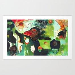 """Inner Whisper #1"" Original Painting by Flora Bowley Art Print"