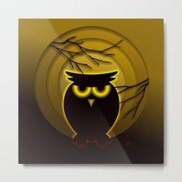 Halloween Owl Metal Print
