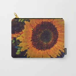 Impressionistic Yellow Sunflower Carry-All Pouch