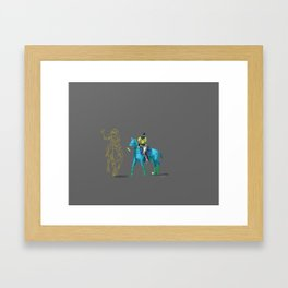 poloplayer turquoise grey Framed Art Print