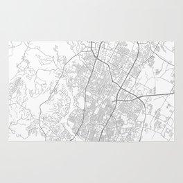 Austin, Texas Minimalist Map Rug