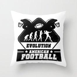 Evolution American Football Throw Pillow
