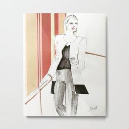 Fashion Illustration Collage Metal Print