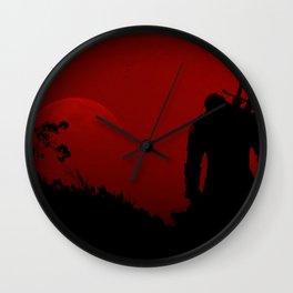 the witcher minimalist netflix Wall Clock