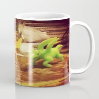dinosaurs Mugs featuring Dinosaurs by Rhiannon