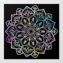 Scratchboard Mandala Canvas Print