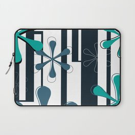 Bodoni Daisies Typography Laptop Sleeve