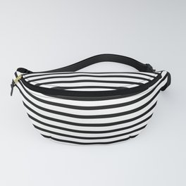 White Black Stripe Minimalist Fanny Pack