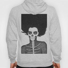 Black and White Galaxy Skull Girl Hoody