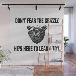 Grizzly bears, not guns Wall Mural