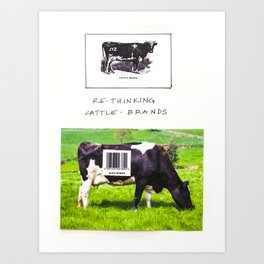 Cattle Branding Art Print