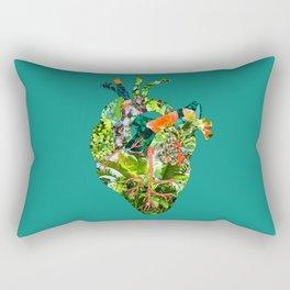 Botanical Heart Green Rectangular Pillow