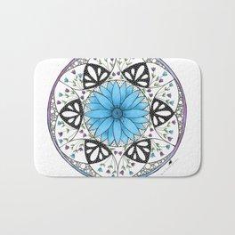 Floral Mandala Bath Mat