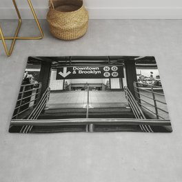 Downtown New York City Subway Rug