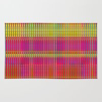 popsicle Area & Throw Rugs featuring Popsicle Stripes by Peter Gross