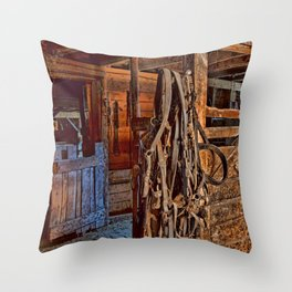 Draft Horse Harness Throw Pillow