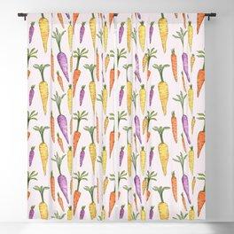 Watecolor Heirlom Carrots Blackout Curtain