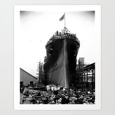 USS Arizona, Navy Yard, New York Art Print