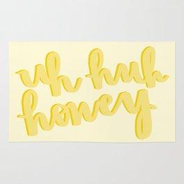 Uh Huh Honey Yellow Rug