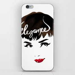 Bombshell Series: Elegance - Audrey Hepburn iPhone Skin