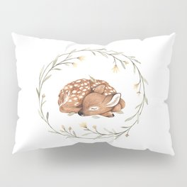 Wildflower Fawn Pillow Sham