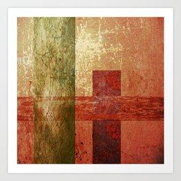 Converge, Abstract Grunge Art Art Print