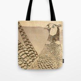 Ring-necked Pheasant At Prairie Sunset Tote Bag