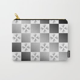 Pussy Checkerboard Abstract Carry-All Pouch