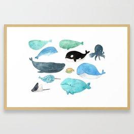 Deep in the sea Framed Art Print