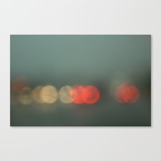 Brake Lights. Canvas Print