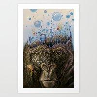 Silverback Synapse Art Print