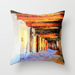 Brisighella: covered passage Throw Pillow