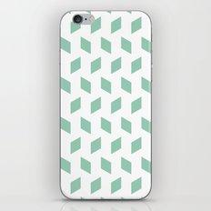 rhombus bomb in grayed jade iPhone & iPod Skin
