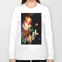concert Long Sleeve T-shirts featuring Concert at Witzend, Venice by Kim Ramage