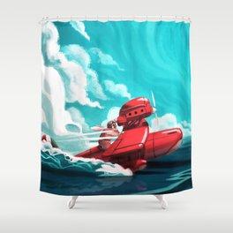 Porco Rosso Shower Curtain
