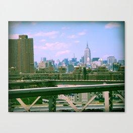 Manhattan from the BK bridge Canvas Print