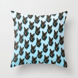 Scottie Print Throw Pillow