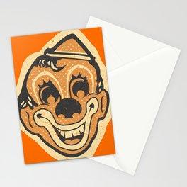 Retro Creepy Halloween Clown Face Mask Stationery Cards