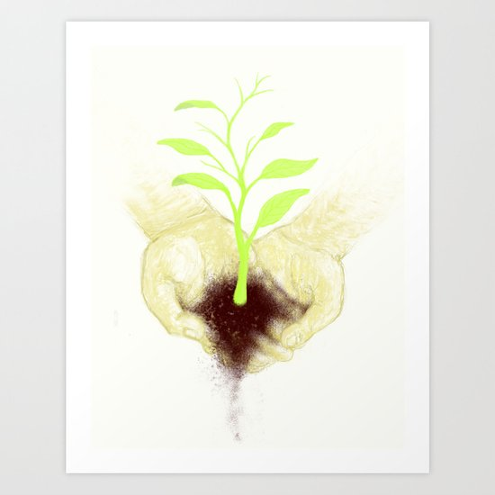 In your hands Art Print