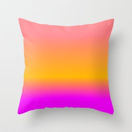 Hot Colorful Pink Orange Summer Gradient Throw Pillow