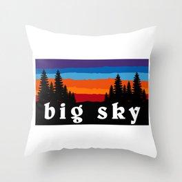 Big Sky Montana Ski Snowboard Resort Throw Pillow